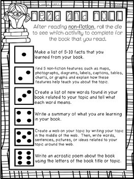 Roll and Write About Non Fiction