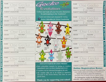 Here's how you earn Geckos...see your packet.