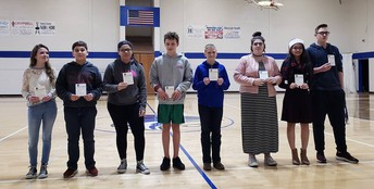 HMS 7th Grade Students of the Month