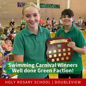 Holy Rosary Swimming Carnival 2021