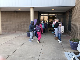 Walker KKids Cheered Students Entering the School Every Day This Week