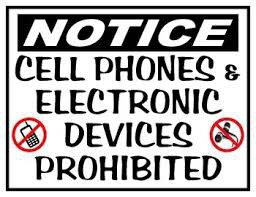 Electronic Devices are NOT PERMITTED in any class