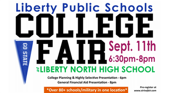 District-wide college fair for SENIORS!