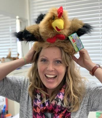 Happy Birthday Mrs. Spencer. We love your birthday hat.