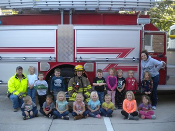 We enjoyed our time with our local firefighters!