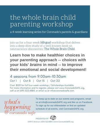 Coronado SAFE presents Whole Brain Child Workshop