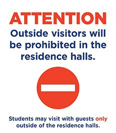 No Visitors In Residence Halls
