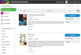 Hillsboro Library's New E-Book Collection!