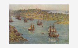 When the first fleet arrived in Sydney Harbour