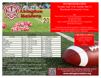 Abington Raiders Registration