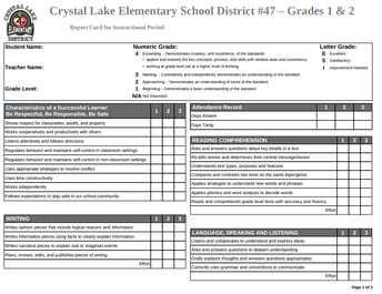 New and Improved K-5 Student Progress Report