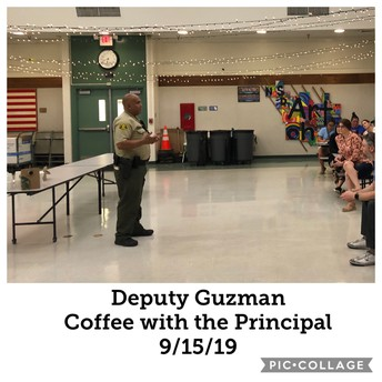 """""""Coffee with the Principal"""" Focus on School Safety"""