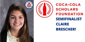 Claire Brescher Named Coca-Cola Scholars Semifinalist
