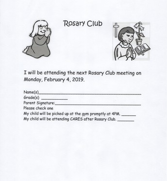 February Rosary Club with Mrs. Chirico