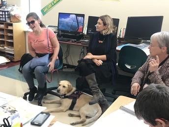 Larisa, Tina and Lorela visit Peirano's class