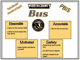 PBIS Bus Posters help remind students of the behaviors expected on the bus.