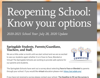 Re-opening school: Know Your Options
