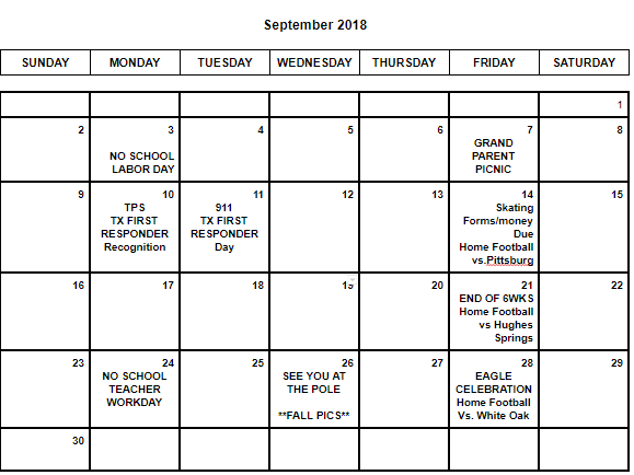 Tps Calendar.Tps Talk Smore Newsletters For Education