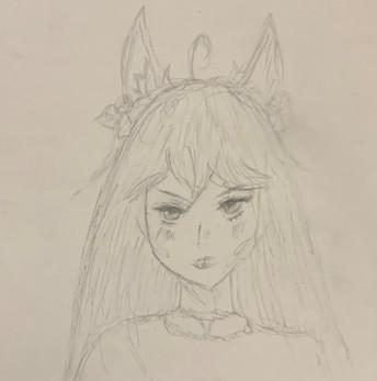 Manga style elf girl