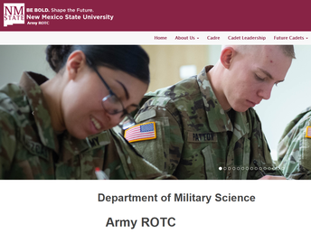 Hello from the Army Reserve Officer Training Corps (ROTC) program at New Mexico State University!
