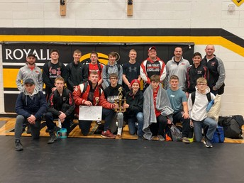 Wrestlers Earn First Place Finish at Royall Invite