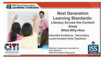Next Gen Learning Standards- Literacy in the Content Areas- Secondary Level