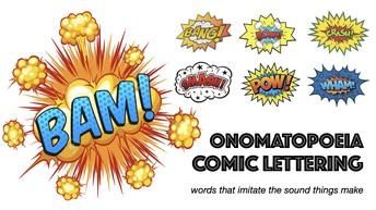 Onomatopoeia Comic Words 5th Grade