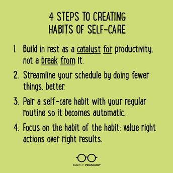 Why it's so hard for teachers to take care of themselves...