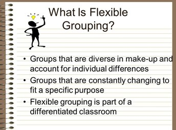 I do We do You do....flexible seating...grouping!