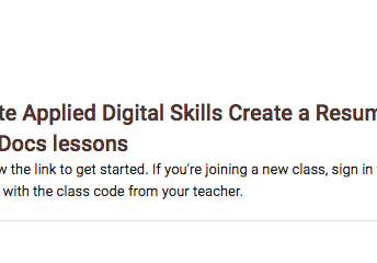 Learning google apps with applied digital skills