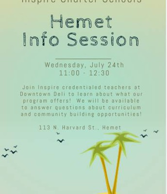 Inspire Info Session in HEMET