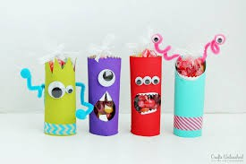 Silly Toilet Paper Roll Monsters: