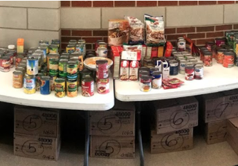WHS Student Council Food Drive