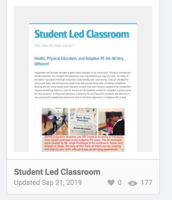 Student Led Classroom
