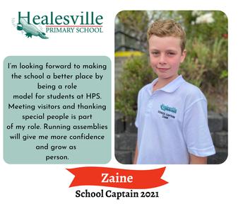Zaine – School Captain