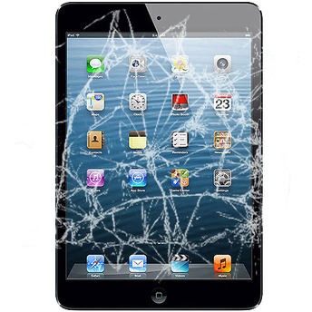 A cracked screen