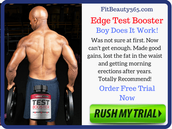 Edge Test Booster It is very important that you begin your workout by stretching.