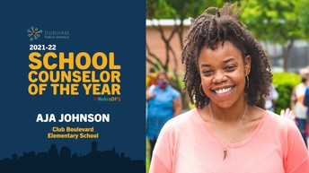 Congrats to our 2021-22 School Counselor of the Year Aja Johnson