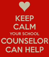 Sign that says keep calm your school counselor can help