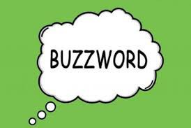 the word buzzword in a word cloud