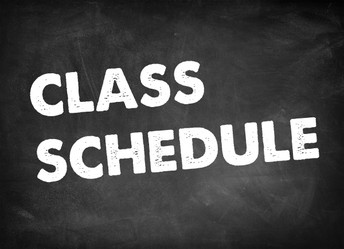Class schedules are NOW available!!!