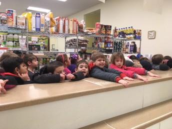 1st Grade at the Food Pantry