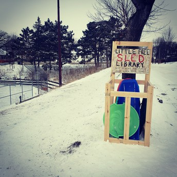 Little Free Sled Libraries