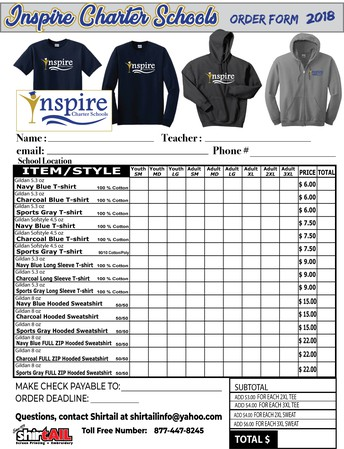 Buy Inspire Spirit Wear!