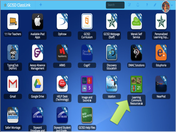 2. Select the Learning Commons