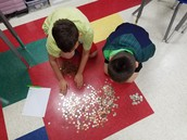 Group effort counting coins