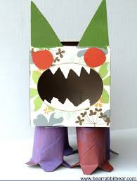 Tissue Box and Toilet Paper Roll Monster: