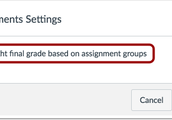 Canvas - Weighted Grades