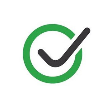 green circle with black check mark in the middle