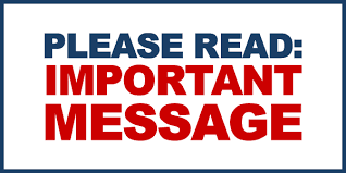ATTENTION ALL STUDENTS – IMPORTANT MESSAGE